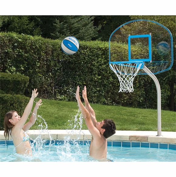 Stainless Pool Deck Anchor Combo Basketball and Volleyball