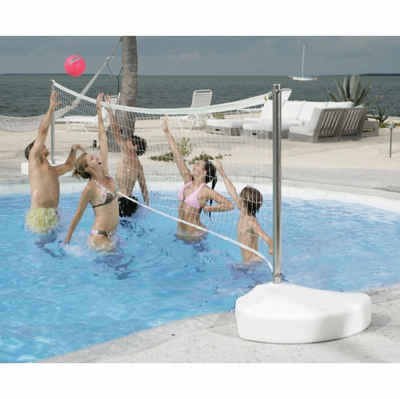 DunnRite V450 Stainless WaterVolly Portable Pool Volleyball