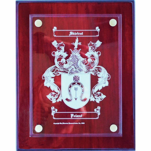 Engraved Coat of Arms Plaque