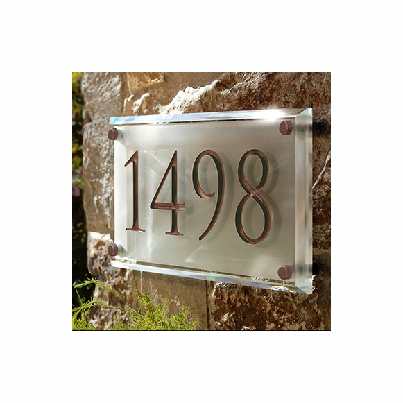 Engraved Crystal Address Plaque
