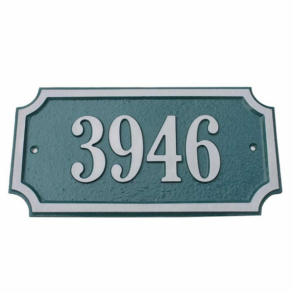 Enhanced Rectangle Street Number Plaque