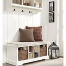Entryway Organizing System - Cubby Bench, Baskets, and Wall Shelf