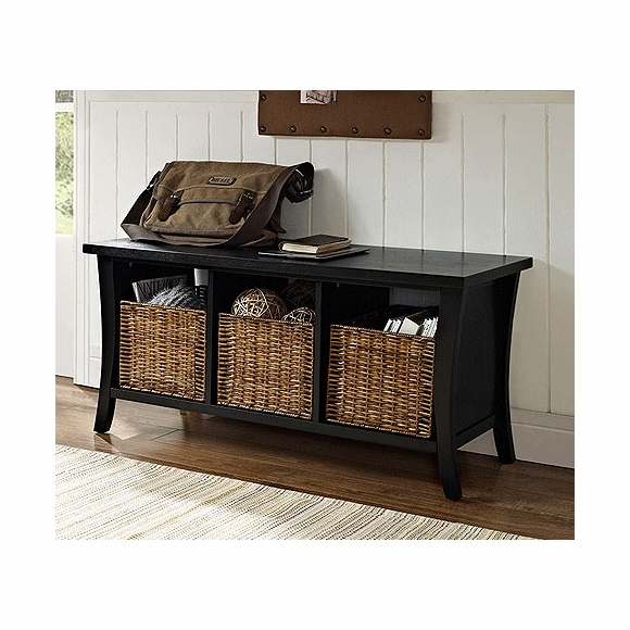 Entryway Storage Bench with Baskets
