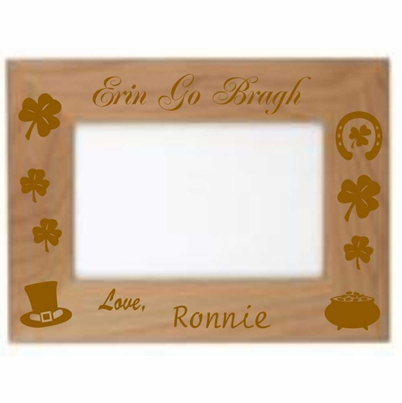Erin Go Bragh Personalized Custom Engraved St. Patrick's Day Picture Frame