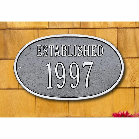 ESTABLISHED Year Sign - Custom Metal Plaque