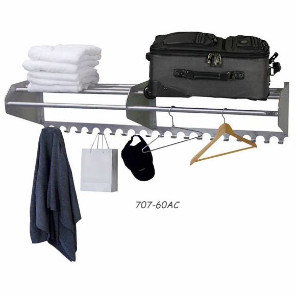Ex-cell 707-AC Wall Mount Coat Rack with Hook Panel
