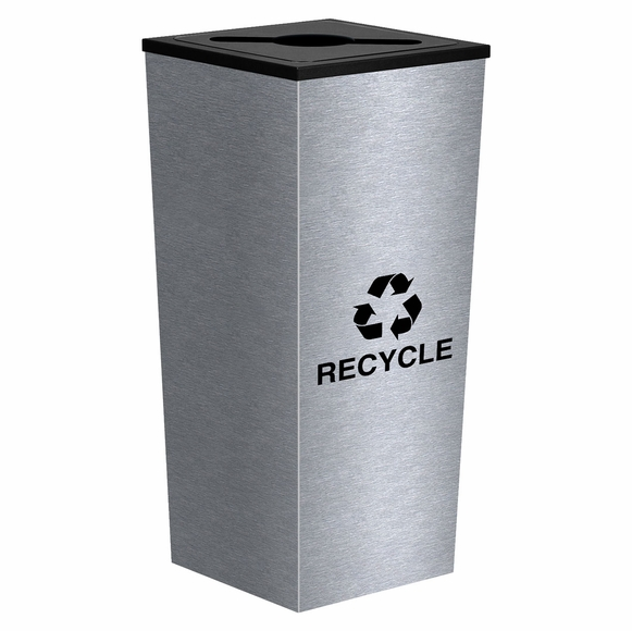 Ex-Cell RC-MTR-1 SS Metro Stainless Steel Recycle Bin