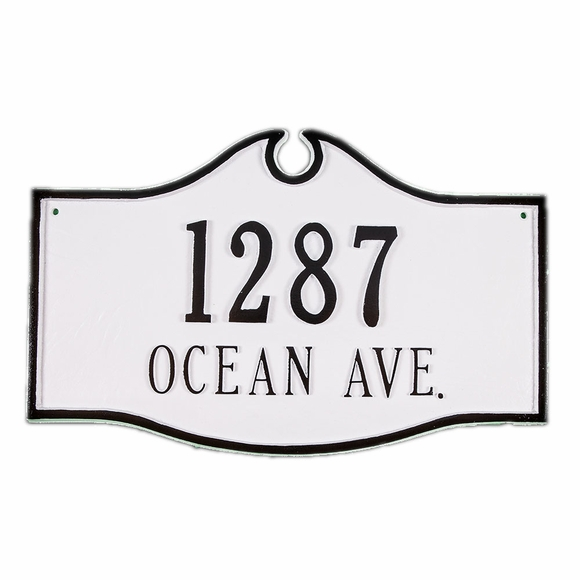 Colonial Style Street Address Plaque