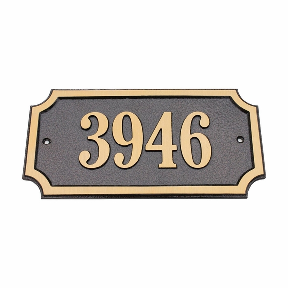 Exterior Address Plaque - Solid Cast Brass