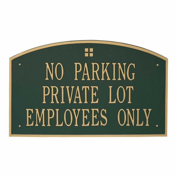 Custom Metal Sign - Extra Large Plaque For Business Name, Property Statement, or Address