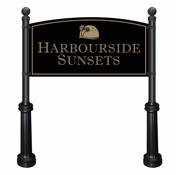 Extra Large Commercial Sign and Decorative Posts