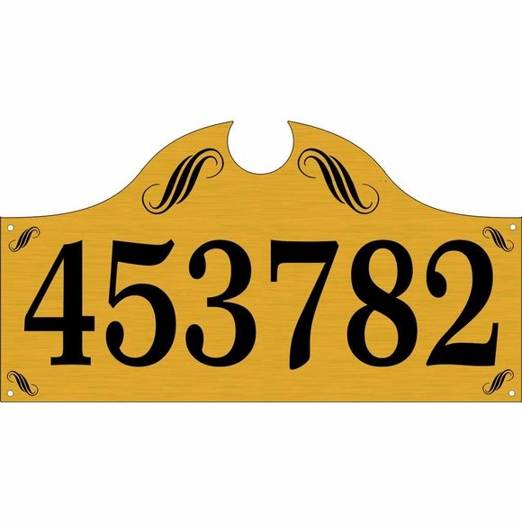 Large Address Plaque - Decorative Monument Style House Address Number Sign With One or Two Lines