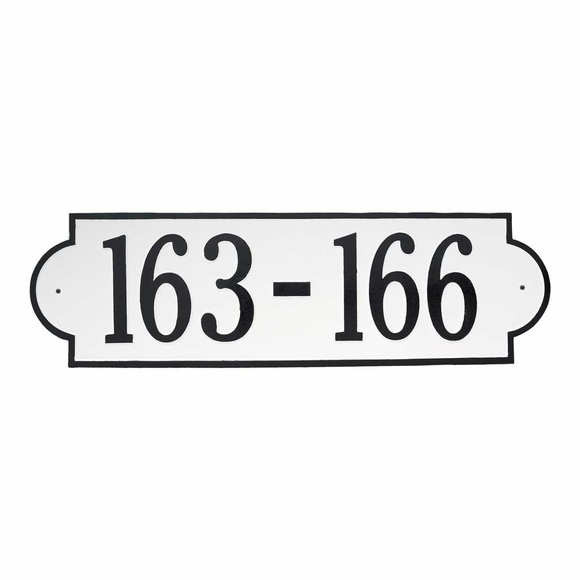 Extra Wide Address Sign - Single or Multi Unit House Number Plaque - Giant Numbers