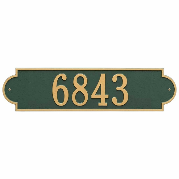 Extra Wide Address Plaque