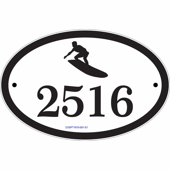 Sports Theme House Number Plaque