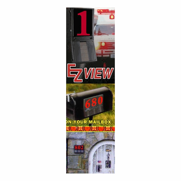 EZ View Solar Powered Illuminated House Number
