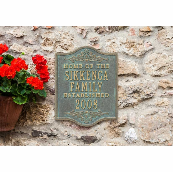 Home Of The Family Name With Established Year Plaque - Custom Metal Sign