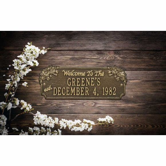 Family Established Year Welcome Plaque