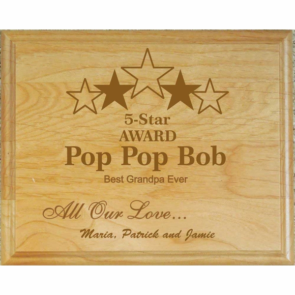 Personalized Father's Day Plaque with Dad's Name