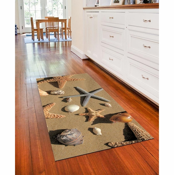 Faux Flooring Printed Beachcomber Floor Mat