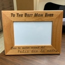 Feliz Dia la Madre Personalized Gift Engraved Picture Frame