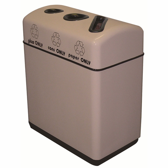Fiberglass Recycling Bin : 3 Streams