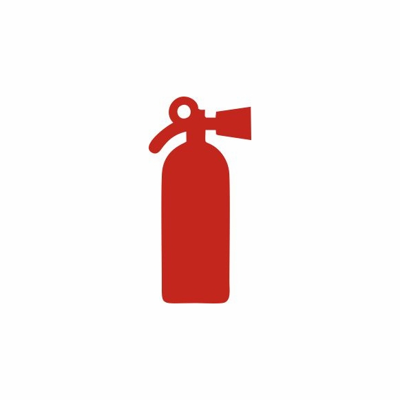 Fire Extinguisher Sign - Silhouette Image For Boats, Homes, etc. Set of 3 Stick On Signs