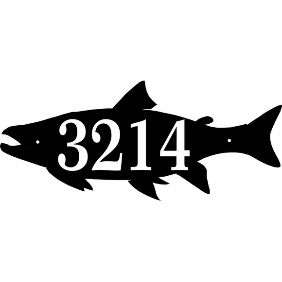 Fish Shape House Number Sign - Address Plaque