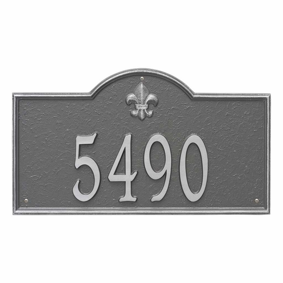Fleur de Lis Address Plaque - Personalized House Number Sign