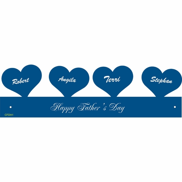 Floating Hearts Personalized Father's Day Gift