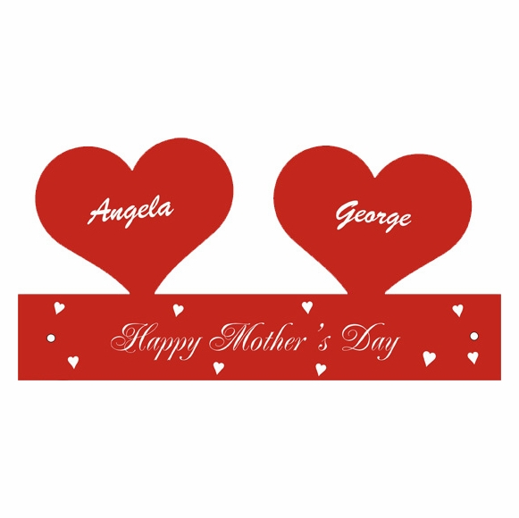Floating Hearts Personalized Mother's Day Gift