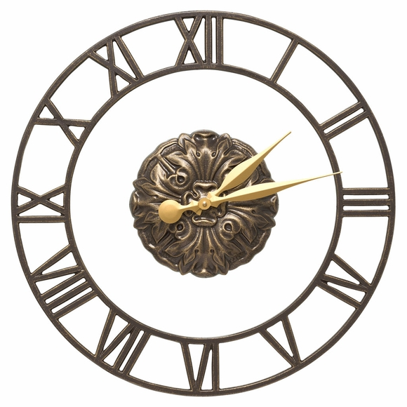 Indoor Outdoor Wall Clock With Roman Numerals Floating Ring