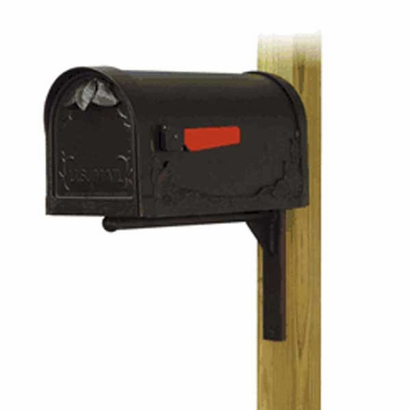 Floral Curbside Mailbox with Mailbox Mounting Bracket