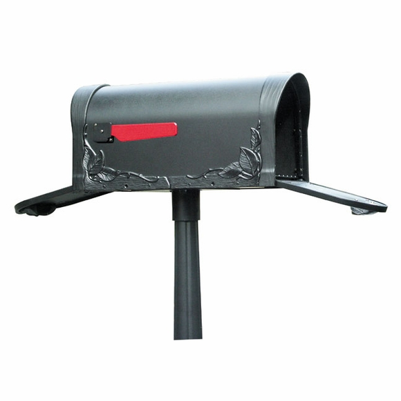 Floral Curbside Mailbox with Rear Access