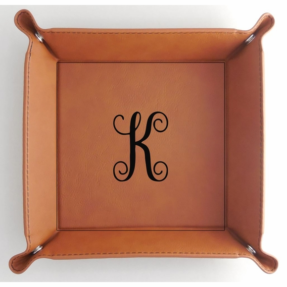 Monogrammed Catch All Storage Tray For Coins, Keys, Jewelry, and More