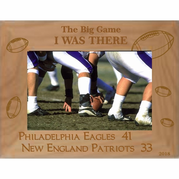 Football Winning Team Parade Custom Engraved Personalized Picture Frame