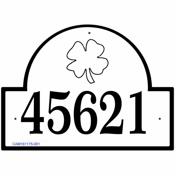Four Leaf Clover Personalized Address Plaque