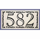 Framed Ceramic Tile House Number Sign