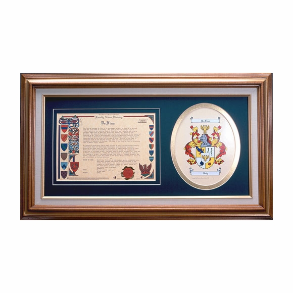 Framed Coat of Arms and Family History