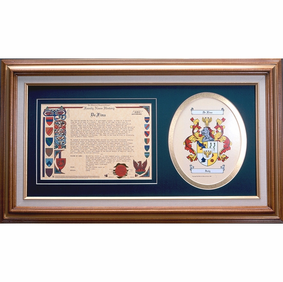 Framed Coat of Arms and Family Name History