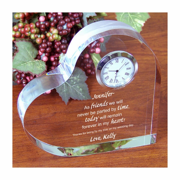 Friends Forever Keepsake Heart Clock
