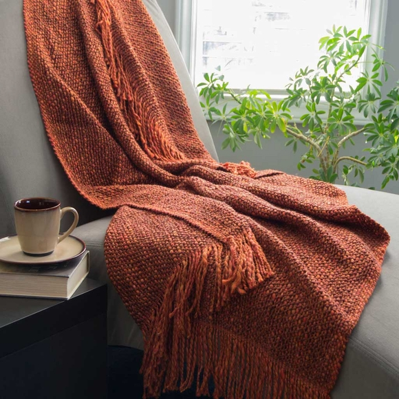 Fringed Throw - Made in USA