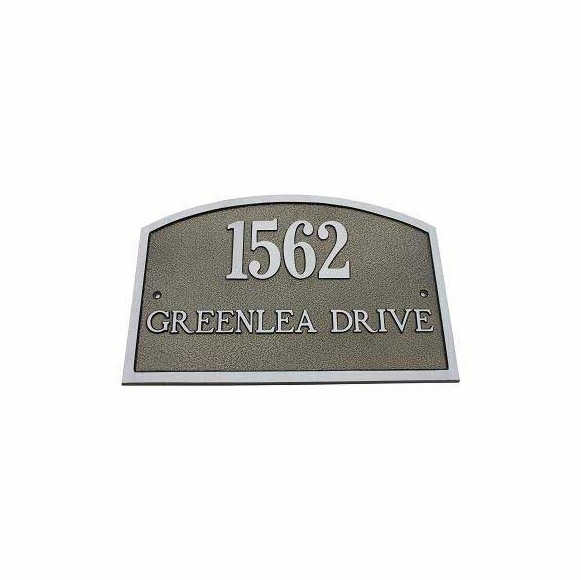 Full Arch Address Plaque