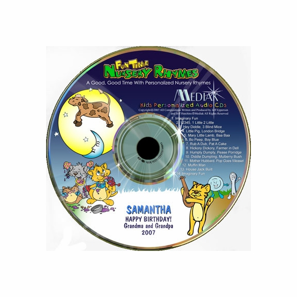 Fun Time Nursery Rhymes Personalized CD
