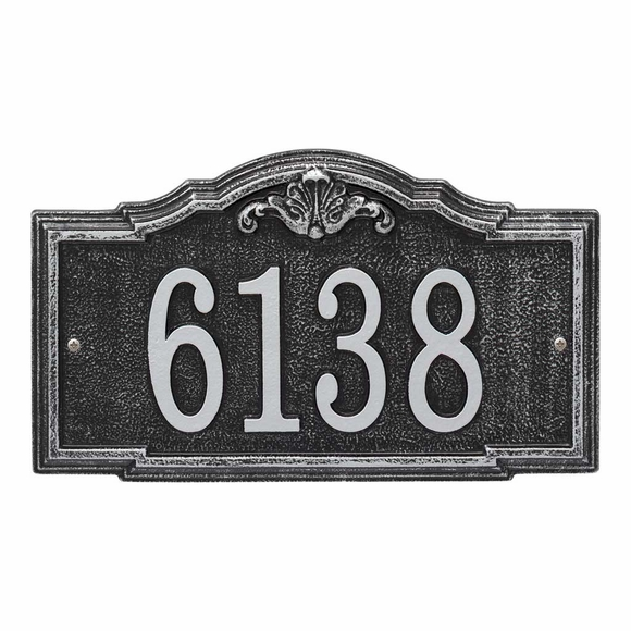 Decorative Metal Address Plaque - House Number Sign - For Wall Mount or Optional Lawn Mount