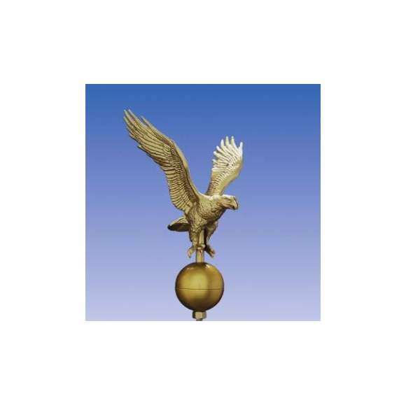 Golden Eagle with Golden Ball for Flagpole Top