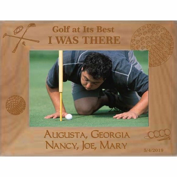 Golf Tournament Custom Engraved Personalized Picture Frame