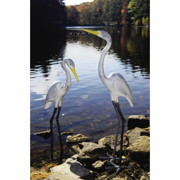 Great Egret Garden Statue