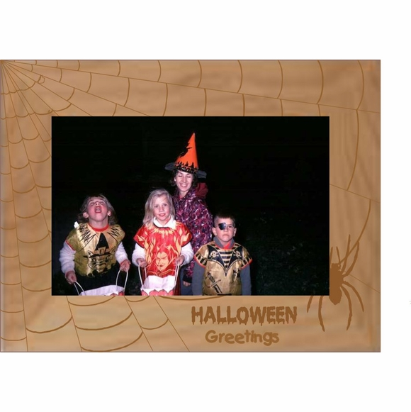 Halloween Greetings Picture Frame