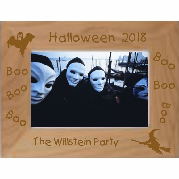 Custom Engraved Halloween Party Personalized Picture Frame